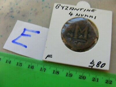 BYZANTINE Large (27mm) Byzantine coin,Eastern Roman Empire, 4 Nummi..Nice(E) .