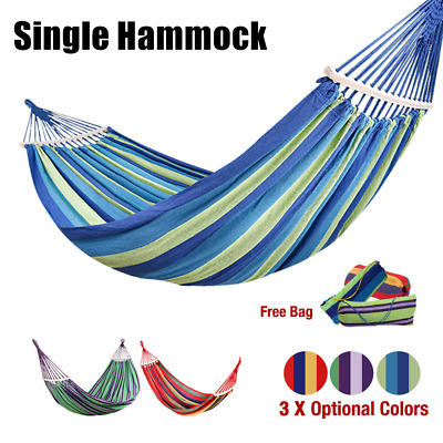 Large Hammock Outdoor Garden Person Double Camping Hanging Swing Travel Bed UK
