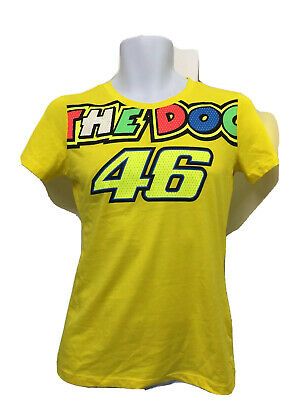 VR46 Valentino Rossi The Doctor Moto GP T Shirt Casual LADIES Size M