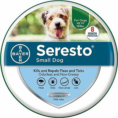 Bayer Seresto Flea and Tick Collar for Small Dogs Up To 18 Lbs. (8kg)