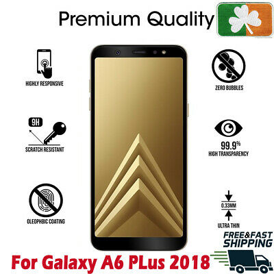 Samsung Galaxy A6 Plus 2018 Full Cover 4D HD Tempered Glass Screen Protector