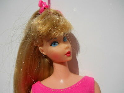 Vintage Barbie Doll Standard High Color Blonde Platinum Highlights Rare OSS 1968