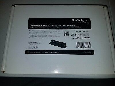 StarTech10-Port Industrial USB 3.0 Hub - ESD and Surge Protection Protector
