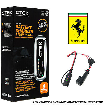 Ferrari 458 Battery Charger 4.3A - 7A & Custom Adapter
