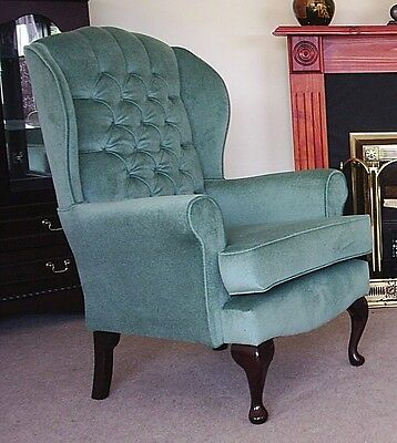 Regency Queen Anne high seat chair. large choice of fabrics.Suite Deal Bexley DA