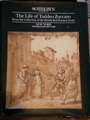 Life of Taddeo Zuccaro Sothebys New York Auction catalogue 11/1/1990