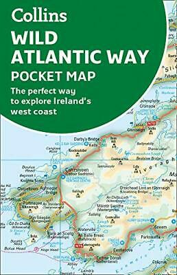 Wild Atlantic Way Pocket Map: The perfect way by Collins Maps New Paperback Book