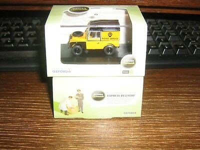 OXFORD DIE-CAST - LAND ROVER 88 inch CLOSED HARD TOP S1 - AA LIVERY - 00 / 1:76