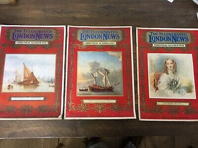 THE Illustrated London News Christmas Issues 1946, 1947 & 1950 (3 Issues)