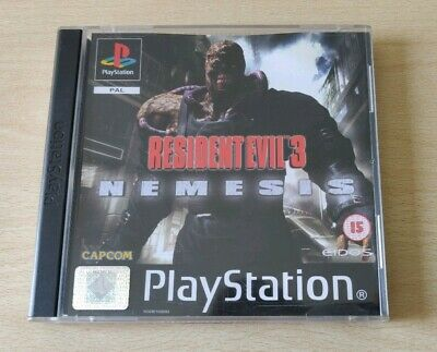 Resident Evil 3 Nemesis Pal Uk + Ita Completo Playstation 1 Come Nuovo Raro Eur