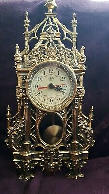Antique Brass Guilded mantle clock late 1800
