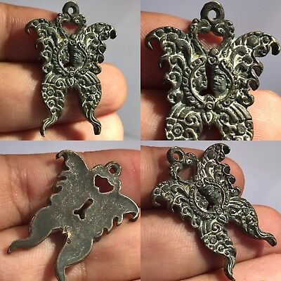 wonderful bronze with two face  king & queen & Roman unique Pendant