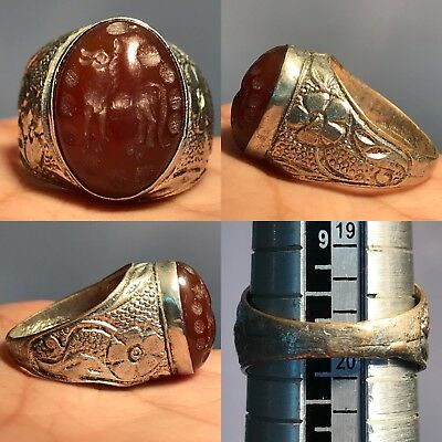 beautiful Agate stone intaglio Beautiful mix silver lovely Ring
