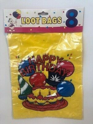 8pk Bing Bunny Plastic Loot Bags Birthday Party Favours