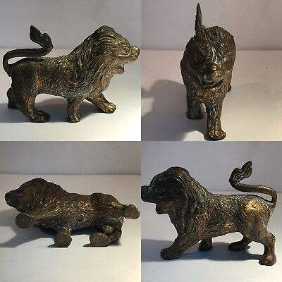 Medieval Old Bronze Antique  Wonderful Lion statue