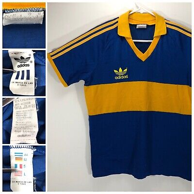 newest 8026a 23613 VINTAGE RETRO ADIDAS Argentina Boca Juniors Football Soccer Jersey Mens M/L