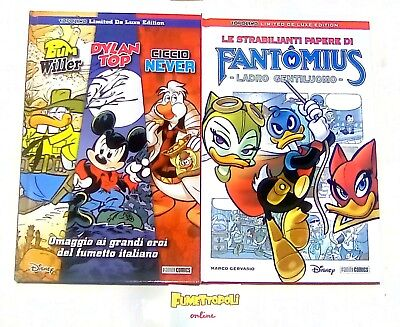TOPOLINO Limited de Luxe Edition B.WILLER/D.TOP/C.NEVER + PAPERE FANTOMIUS Nuovi