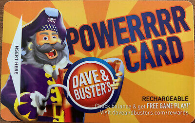 Dave And Busters Power Card w/ Over 10,000 Tickets ~ D & B Prize Points