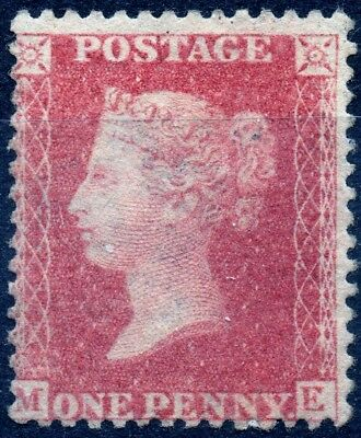 1857 QV 1d Red Star M-E C12 (Plate 50) Perf 14 Large Crown Mounted Mint