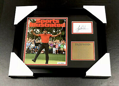 TIGER WOODS 2019 MASTERS Facsimile Autographed REPRINT Framed 8x10 Photo