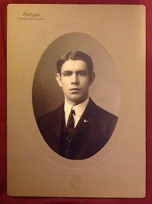 Cabinet Card Photo:  No Name Man, Died 1919 - Partridge, Boston & Vicinity
