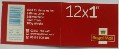 12 X New Original Royal Mail 1st Class Stamps Self Adhesive Peel And Stick