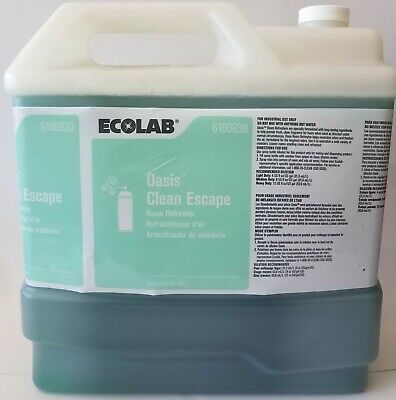Ecolab 6100830 Oasis Clean Escape Room Refresher 2.5 Gallons Exp 08/2021