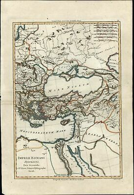 Eastern Roman Empire Arabia Holy Land Turkey Black Sea c.1770 Bonne map