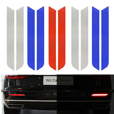 2Pcs/set Warning Tape Car Bumper Sticker Driving Safety Reflective Strips 21cm