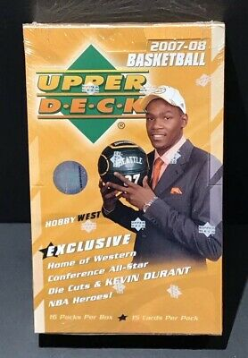 2007-08 UD NBA Basketball Sealed Hobby West Exclusive Box Durant Auto RC Year