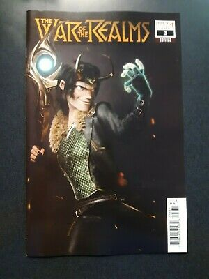 WAR OF THE REALMS #3 1:25 Victor Hugo Variant Marvel Comic Book NM First Print