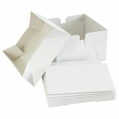 """5 x White Premium Cake Boxes with Removable Lid - 8"""",10"""",12"""",14"""",16"""""""
