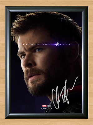 Avengers Endgame Thor Chris Hemsworth Signed Autographed A4 Poster Photo Print