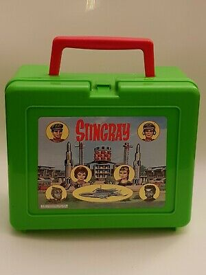 Vintage STINGRAY Lunchbox With Flask Lime Green 1981
