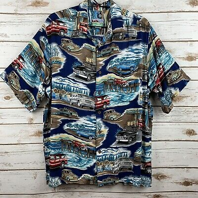 ea6c2dd8209fa VINTAGE 80'S LIGHTNING Bolt Mens Hawaiian Button Front Shirt Med M ...