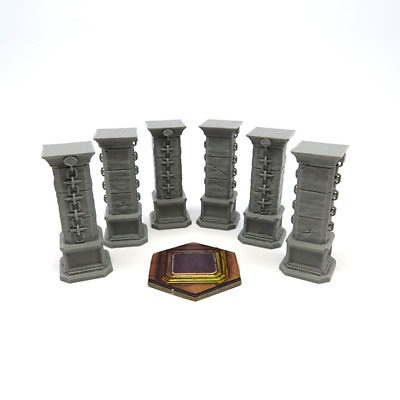 GLOOMHAVEN STONE PILLAR x6 scenery expansion plastic 3D Board game kickstarter