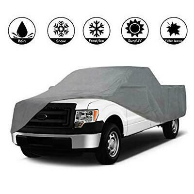 3 Layer Pickup Truck Cover Outdoor Anti-UV Dust-Proof Waterproof Gray
