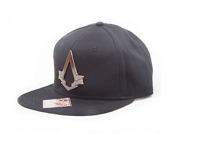 new style ede9e 57c21 Assassins Creed Baseball Cap Syndicate bronze Crest Official New Black  Snapback