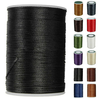 0.8mm*78M Leather Sewing Waxed Wax Thread Hand Stitching Cord Flat Line Durable