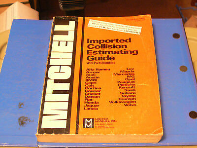 1977 Mitchell Imported Collision Estimating Guide / Original