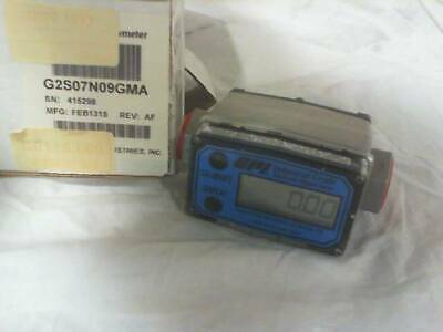 GPI G2 316SS Stainless Flow Meter 2-20GPM G2S07N09GMA - New in Box
