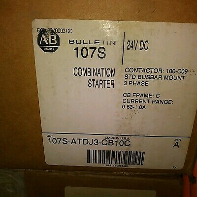 Allen Bradley 107S-ATDJ3-CB10C Combination Starter - New in Box
