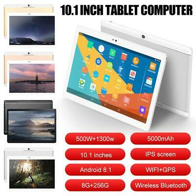 NEW 10.1 Inch Tablet Android 8.1 8+256G 10 Core WiFi Bluetooth PC Camera Laptop