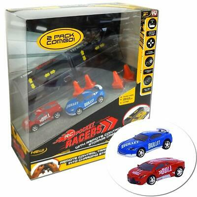 RC - Pocket Racers With Remote Control Micro Race Cars Vehicle - 2 PACK COMBO