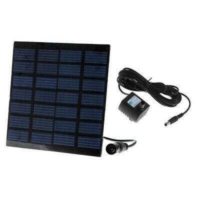 Pool Solar Pump Pond Garden Plants Panel Circulation Brushes Motor Quiet Mute