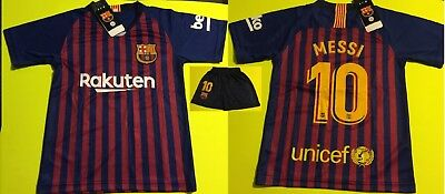 ea8bb2db6ea Barcelona 2019 Messi Kids Set Uniform Soccer Jersey Team Sport XX-Small 4-5