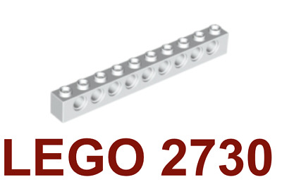 Medium Stone Gray Lego 2730 Technic Brick 10x1 x5pcs