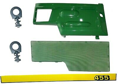 RH Side Panel/Screen/Sticker SET AM128982 M116020  Fits John Deere 455 UP SN