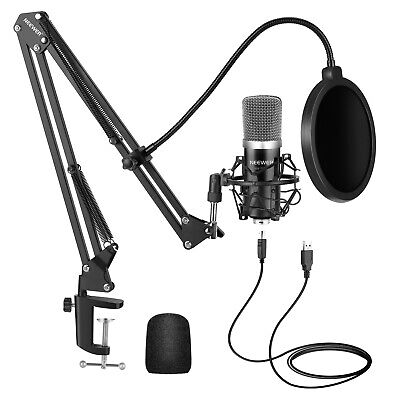 Neewer Black NW-7000 Sound Recording USB Condenser Microphone with Arm Stand Kit