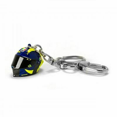 Valentino Rossi VR46 Moto GP Sun & Moon 3D Helmet Key Ring Official 2019